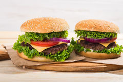 hamburgeru smakowity świeży Zdjęcie Stock