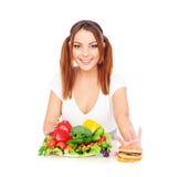 hamburgeru smiley warzyw kobieta obrazy royalty free