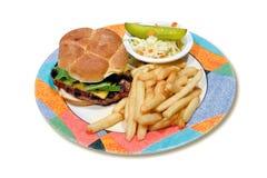 hamburgeru talerz Zdjęcie Stock