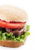 hamburgeru up zamknięty Zdjęcie Stock
