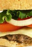 hamburgeru up zamknięty Fotografia Stock