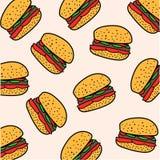 Hamburgeru wzór Obraz Stock
