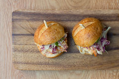 Hamburgerów suwaki Zdjęcie Royalty Free