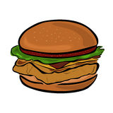 hamburgery Obrazy Royalty Free
