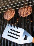 hamburgery z grilla Zdjęcia Stock