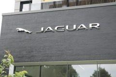 Hamburgo, Alemanha - 13 de julho de 2017: O PLC de Rover Automatic da terra de Jaguar é a holding da terra Rover Limited de Jagua Imagem de Stock Royalty Free