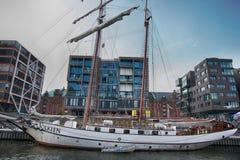 Hamburgo, Alemanha - 28 de julho de 2014: Ideia do quarto de Hafencity Imagens de Stock