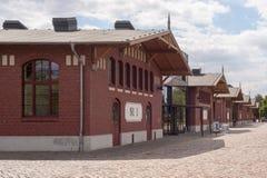 Hamburgo, Alemanha - 7 de junho de 2015: Salões do museu BallinStadt da emigração em Hamburgo, Alemanha fotografia de stock