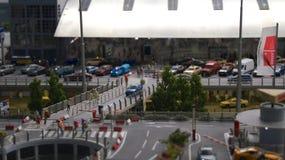 HAMBURGO, ALEMANHA - 8 de março de 2014: Flughafen Wunderland Até 40 aviões diferentes, de Cessna a Airbus A 380, são Fotografia de Stock Royalty Free