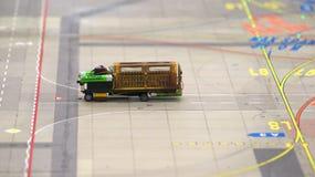 HAMBURGO, ALEMANHA - 8 de março de 2014: Flughafen Wunderland Até 40 aviões diferentes, de Cessna a Airbus A 380, são Foto de Stock Royalty Free