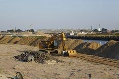 Hamburgo (Alemanha) - terreno de construção HafenCity Fotografia de Stock Royalty Free