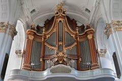 Hamburgo, Alemania Órgano en San Miguel y el x27; iglesia de s fotografía de archivo libre de regalías