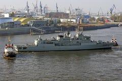 Hamburgo, Alemania - acción en puerto Imagen de archivo libre de regalías