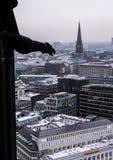 01 02 2011, Hamburgo, Alemania Arquitectura de Europa Paisajes urbanos de Hamburgo en invierno foto de archivo