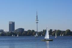 Hamburgo Alster Foto de Stock Royalty Free