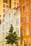 Hamburgo, armazéns velhos e silo de grão renovado imagens de stock