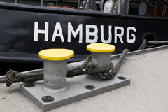 Hamburgo escrita no tugboat Fotos de Stock