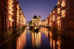 Hamburgo Hafencity fotografía de archivo
