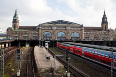 Hamburgo Hauptbahnhof imagenes de archivo