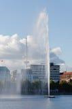Hamburgo, Heinrich-Hertz-torre Fotos de Stock