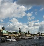 Hamburgo Landungsbrücken Imagenes de archivo