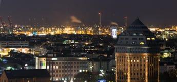 Hamburgo na noite Foto de Stock