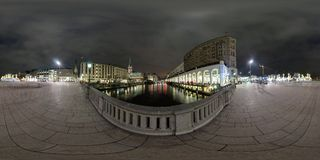 Hamburgo opinião da rua de um panorama de 360 graus Fotos de Stock Royalty Free