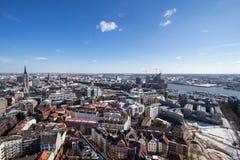 Hamburgo, opinião do panorama imagens de stock