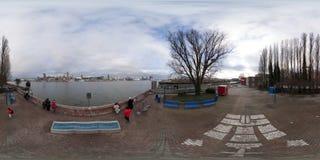 Hamburgo opinión de la calle del panorama de 360 grados Foto de archivo