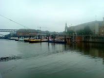 Hamburgo por la mañana Imagenes de archivo