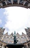 Hamburgo Rathaus Innenhof Fotos de archivo libres de regalías