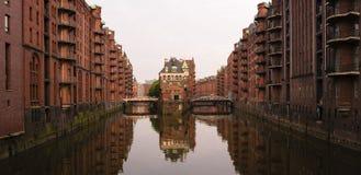 Hamburgo Wasserschloss, Alemanha Imagem de Stock Royalty Free
