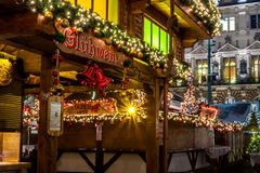 Hamburgo Weihnachtsmarkt, Alemanha Imagens de Stock Royalty Free