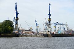 Hamburgs Harbour Royalty Free Stock Photography