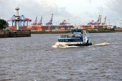 Harbour of Hamburg Stock Photos