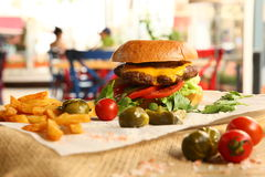 Hamburguer Fotografia de Stock Royalty Free