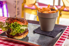 Hamburguer Fotos de Stock Royalty Free