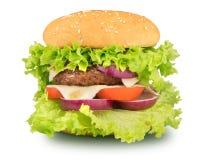 Hamburguer, cheeseburger isolado no fundo branco imagens de stock