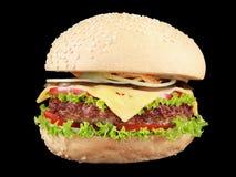 Hamburguer com carne e vegetais Fotos de Stock Royalty Free