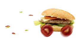 Hamburguer do fast food fotografia de stock royalty free