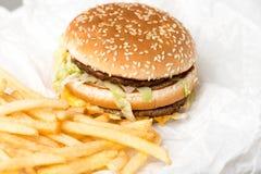 Hamburguer dobro de McDonalds Fotografia de Stock