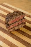 Hamburguer meat grill. Past comparison Royalty Free Stock Photography