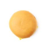 Hamburguer simples do queijo isolado Fotografia de Stock Royalty Free