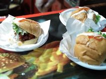 hamburgueres Fotos de Stock Royalty Free