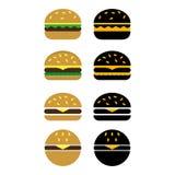 hamburgueres ilustração stock
