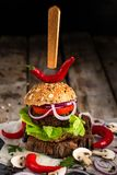 Hamburgueres do vegetariano Imagem de Stock Royalty Free