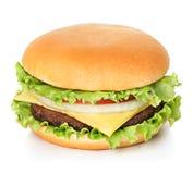 Hamburguesa aislada en blanco Imagen de archivo libre de regalías