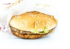 Hamburguesa, alimentos de preparación rápida Imágenes de archivo libres de regalías