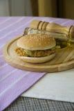Hamburguesa americana del pollo Fotos de archivo libres de regalías
