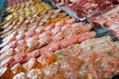 Hamburguesa assort on counter Stock Image